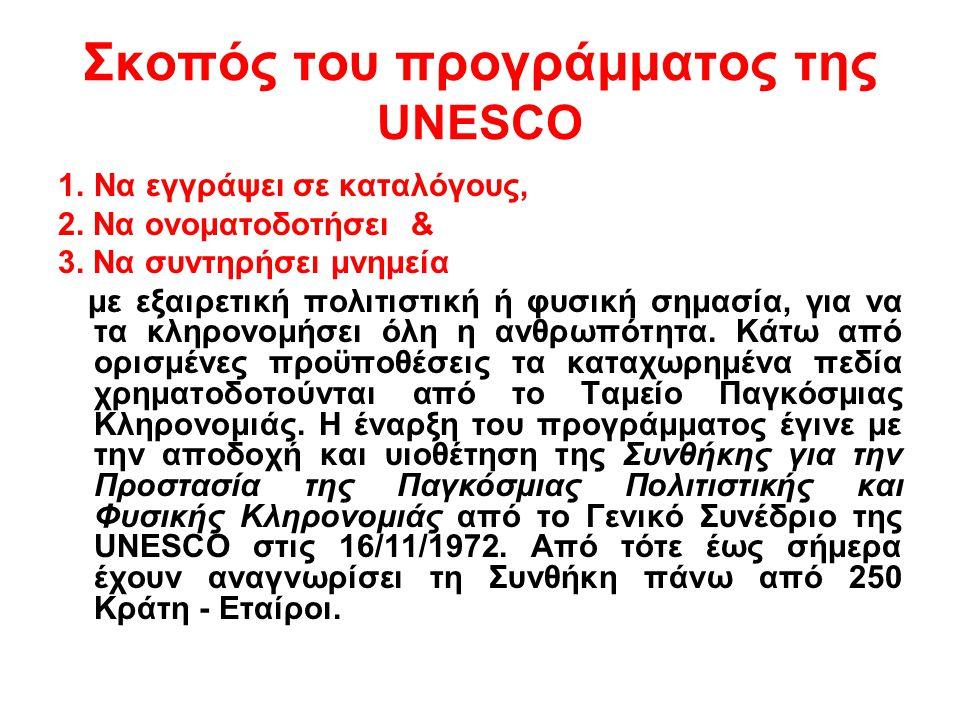 Σκοπός του προγράμματος της UNESCO