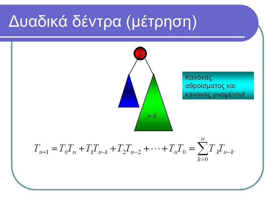 Δυαδικά δέντρα (μέτρηση)