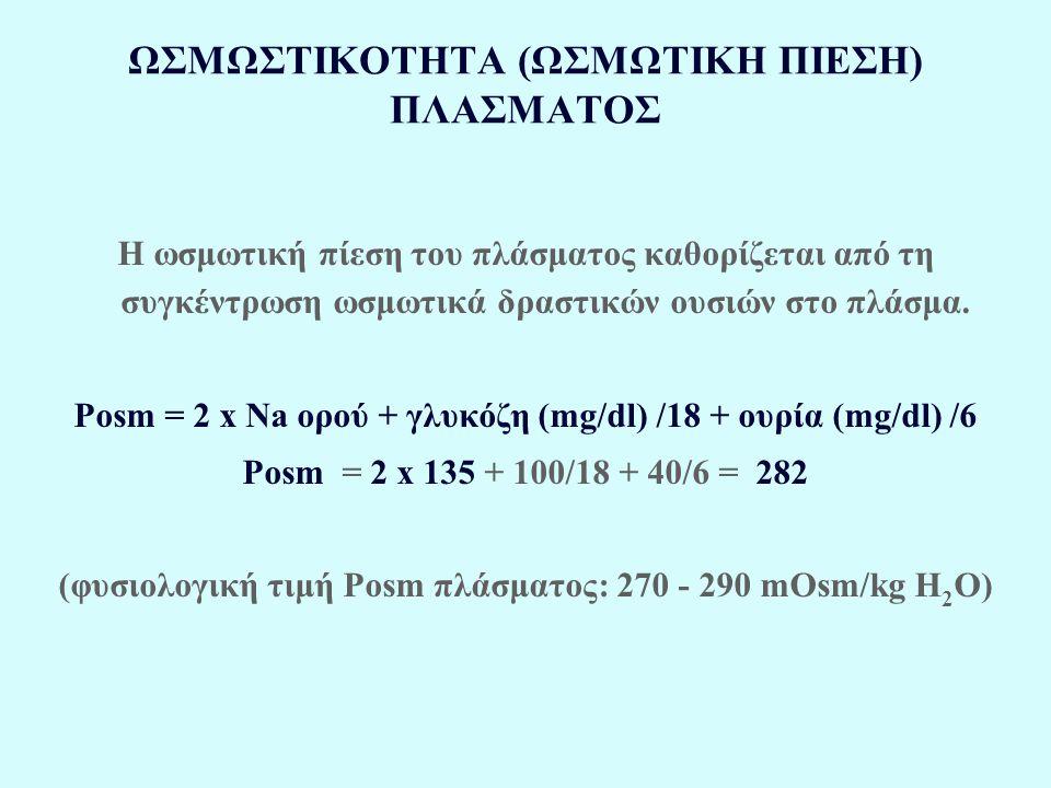 ΩΣΜΩΣΤΙΚΟΤΗΤΑ (ΩΣΜΩΤΙΚΗ ΠΙΕΣΗ) ΠΛΑΣΜΑΤΟΣ