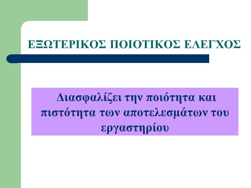 ΕΞΩΤΕΡΙΚΟΣ ΠΟΙΟΤΙΚΟΣ ΕΛΕΓΧΟΣ