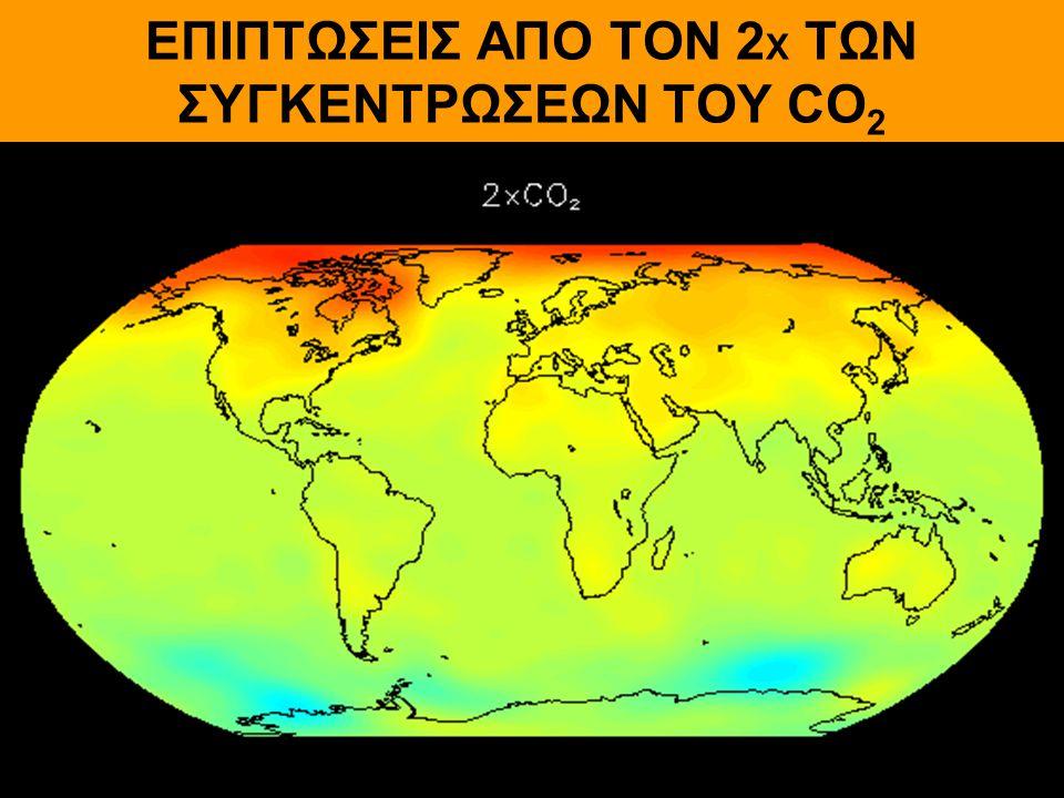 ΕΠΙΠΤΩΣΕΙΣ ΑΠΟ ΤΟΝ 2Χ ΤΩΝ ΣΥΓΚΕΝΤΡΩΣΕΩΝ ΤΟΥ CO2