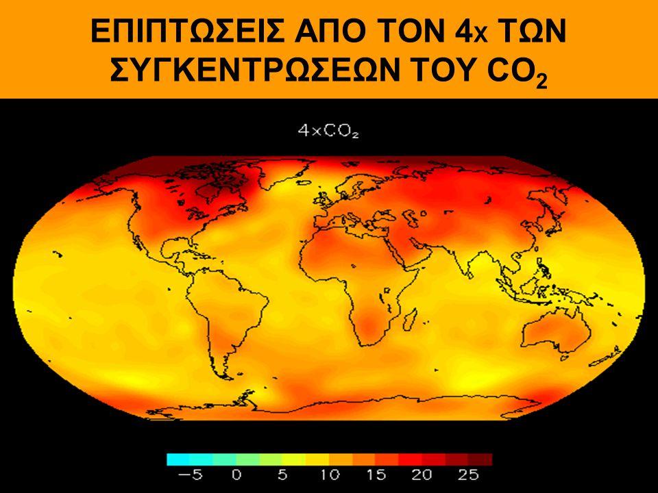 ΕΠΙΠΤΩΣΕΙΣ ΑΠΟ ΤΟΝ 4Χ ΤΩΝ ΣΥΓΚΕΝΤΡΩΣΕΩΝ ΤΟΥ CO2