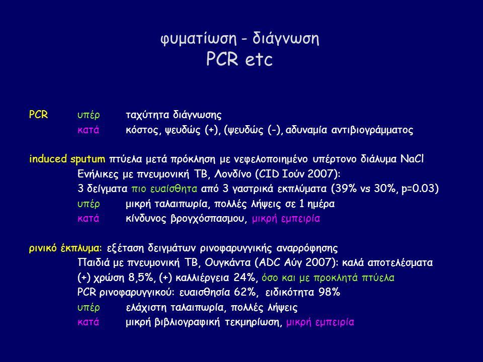 φυματίωση - διάγνωση PCR etc