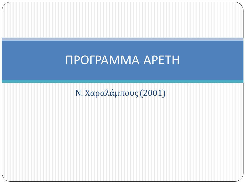 ΠΡΟΓΡΑΜΜΑ ΑΡΕΤΗ Ν. Χαραλάμπους (2001)