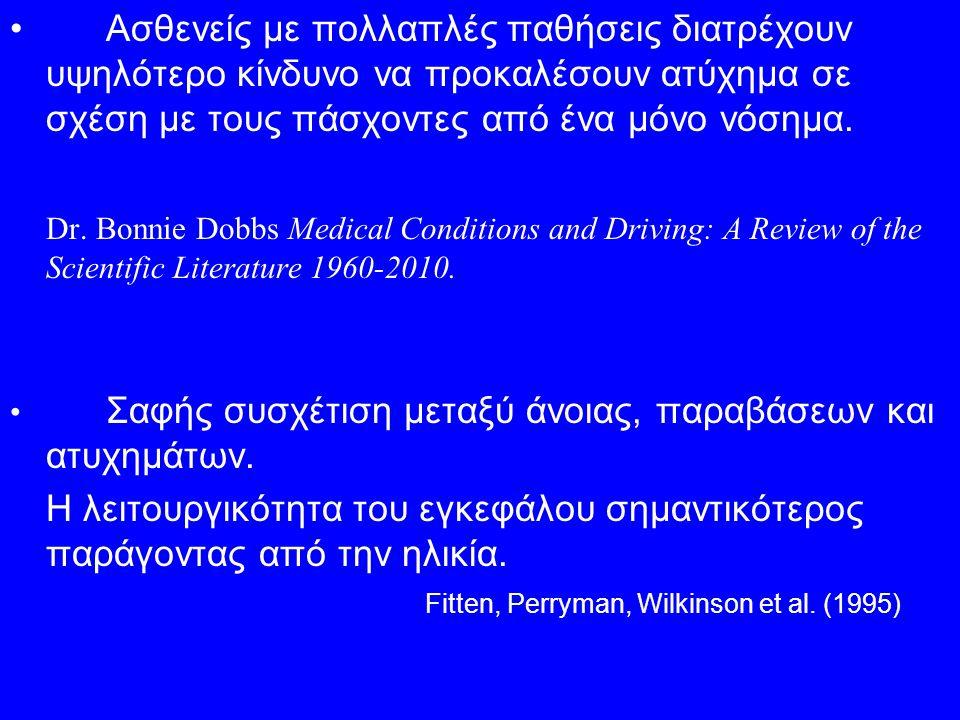 Ασθενείς με πολλαπλές παθήσεις διατρέχουν υψηλότερο κίνδυνο να προκαλέσουν ατύχημα σε σχέση με τους πάσχοντες από ένα μόνο νόσημα.