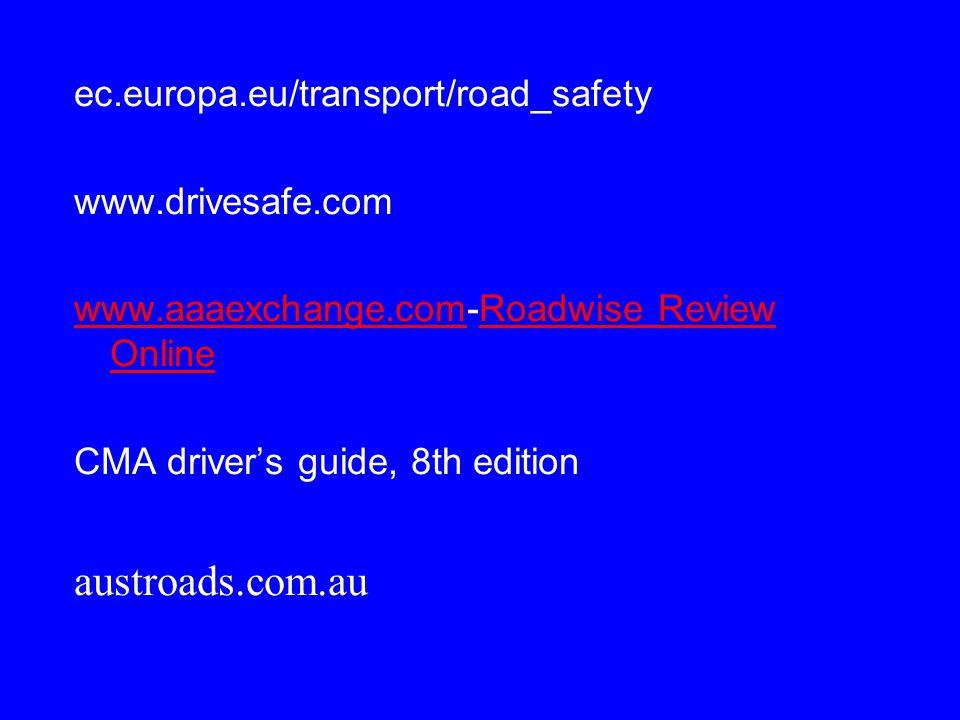 austroads.com.au ec.europa.eu/transport/road_safety www.drivesafe.com