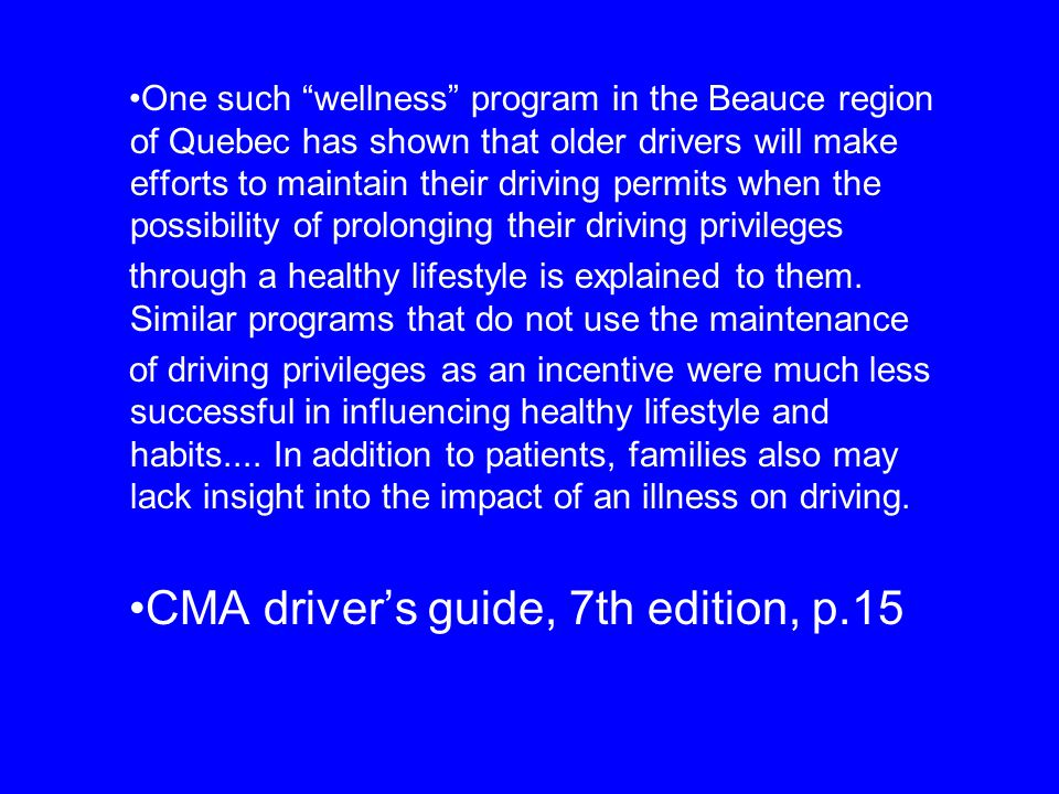 CMA driver's guide, 7th edition, p.15