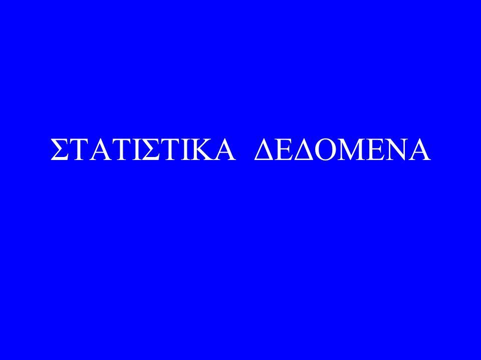 ΣΤΑΤΙΣΤΙΚΑ ΔΕΔΟΜΕΝΑ