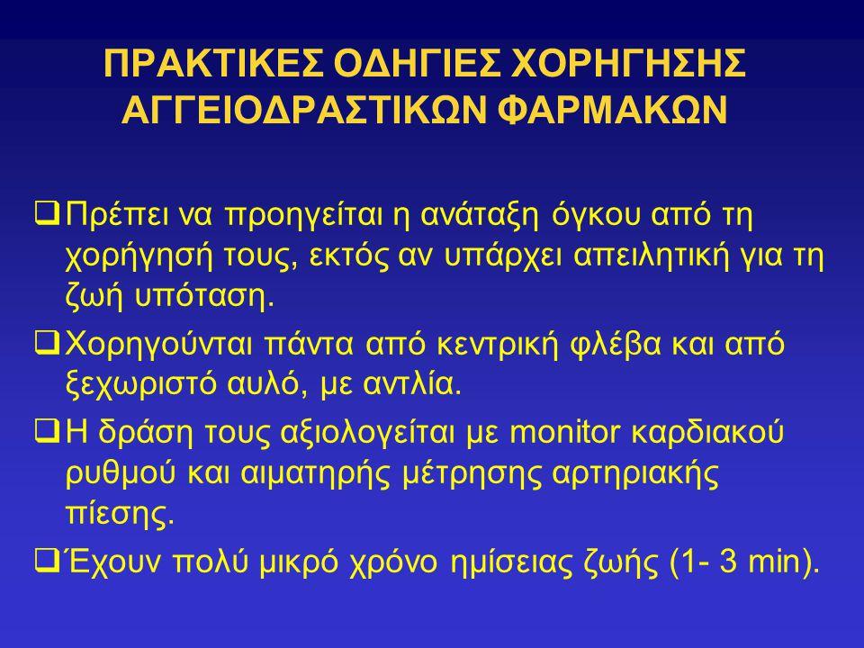 ΠΡΑΚΤΙΚΕΣ ΟΔΗΓΙΕΣ ΧΟΡΗΓΗΣΗΣ ΑΓΓΕΙΟΔΡΑΣΤΙΚΩΝ ΦΑΡΜΑΚΩΝ