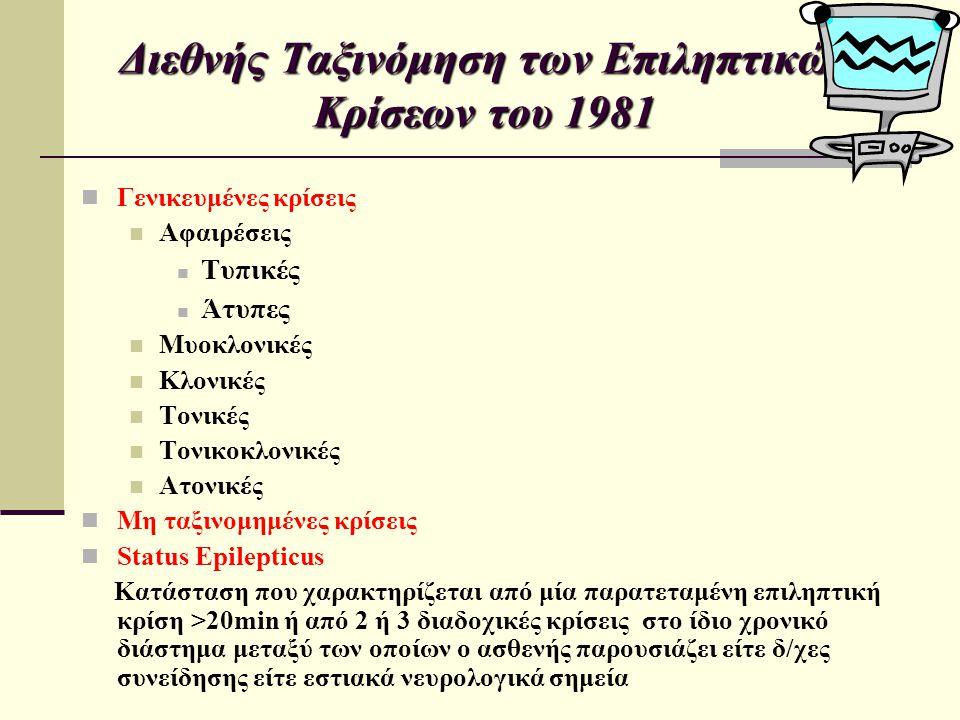 Διεθνής Ταξινόμηση των Επιληπτικών Κρίσεων του 1981
