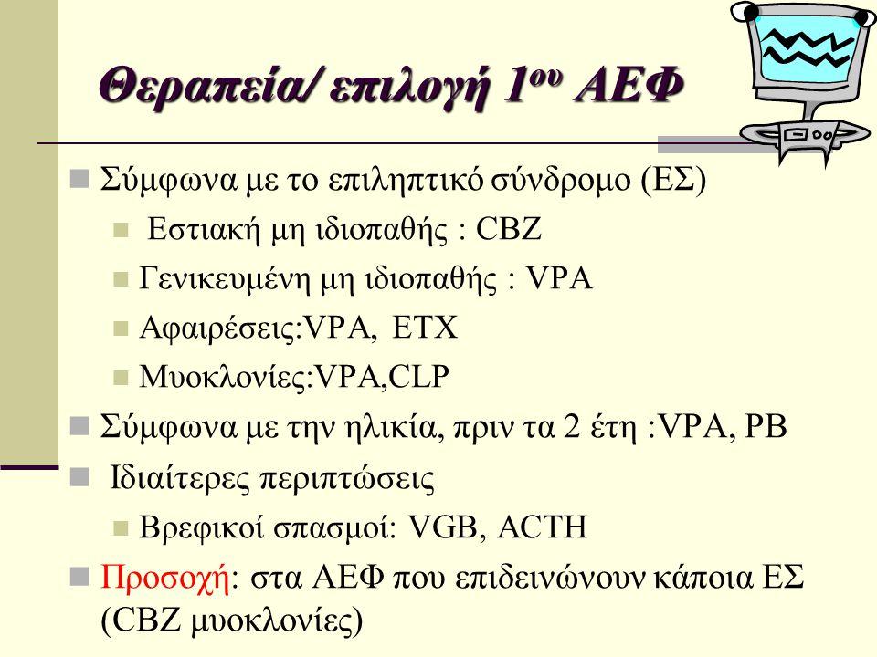 Θεραπεία/ επιλογή 1ου ΑΕΦ