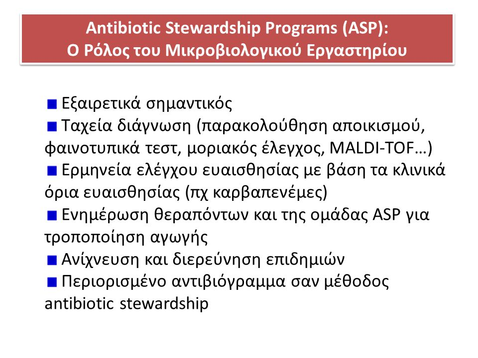 Antibiotic Stewardship Programs (ASP):