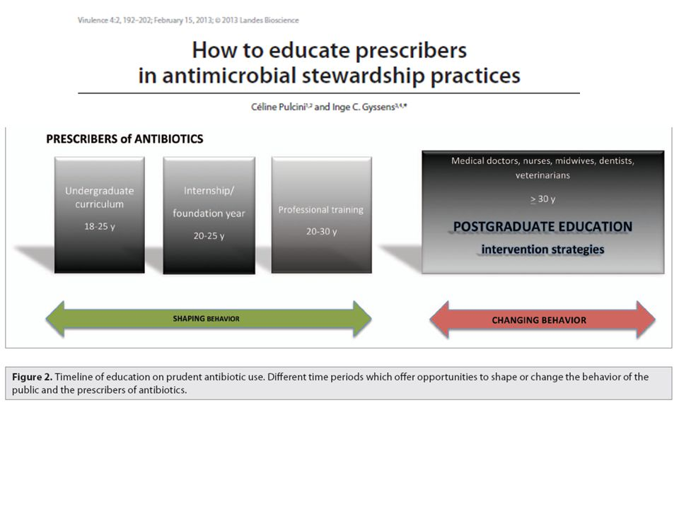 Antimicrobial stewardship interventions have mainly been conducted at the postgraduate level, aiming at changing the behavior of professionals.