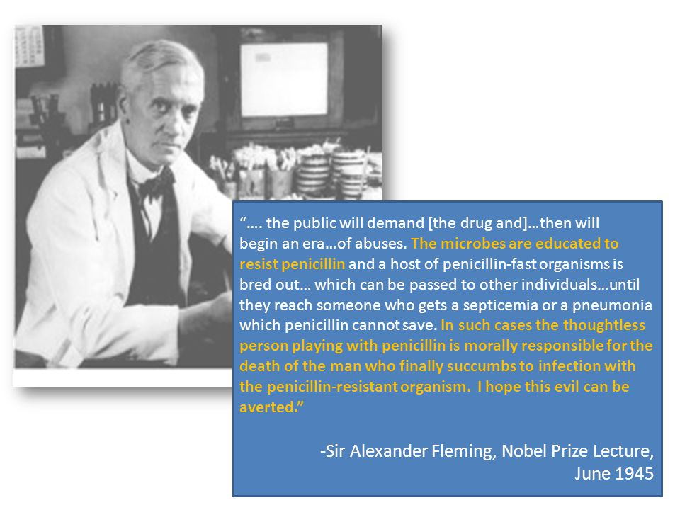 Sir Alexander Fleming, Nobel Prize Lecture, June 1945