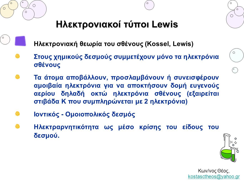 Ηλεκτρονιακοί τύποι Lewis