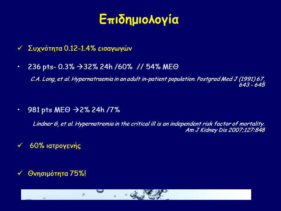 Επιδημιολογία Συχνότητα 0.12-1.4% εισαγωγών