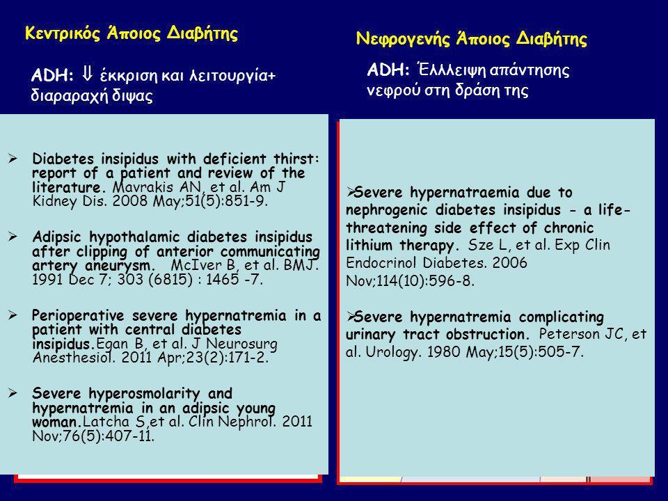 Κεντρικός Άποιος Διαβήτης Νεφρογενής Άποιος Διαβήτης