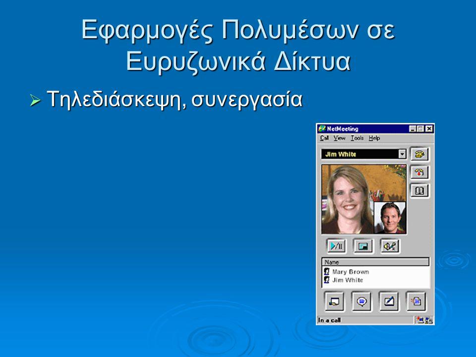 Εφαρμογές Πολυμέσων σε Ευρυζωνικά Δίκτυα
