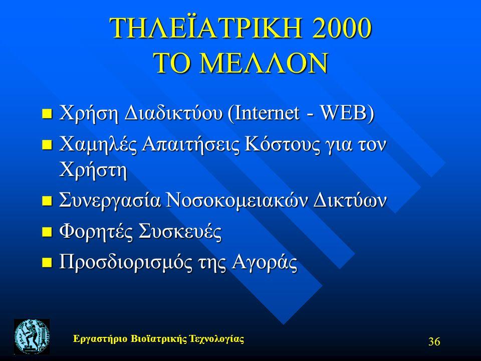 ΤΗΛΕΪΑΤΡΙΚΗ 2000 ΤΟ ΜΕΛΛΟΝ Χρήση Διαδικτύου (Internet - WEB)