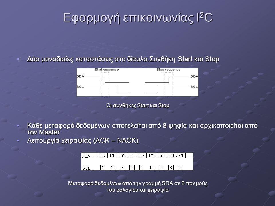 Εφαρμογή επικοινωνίας I2C
