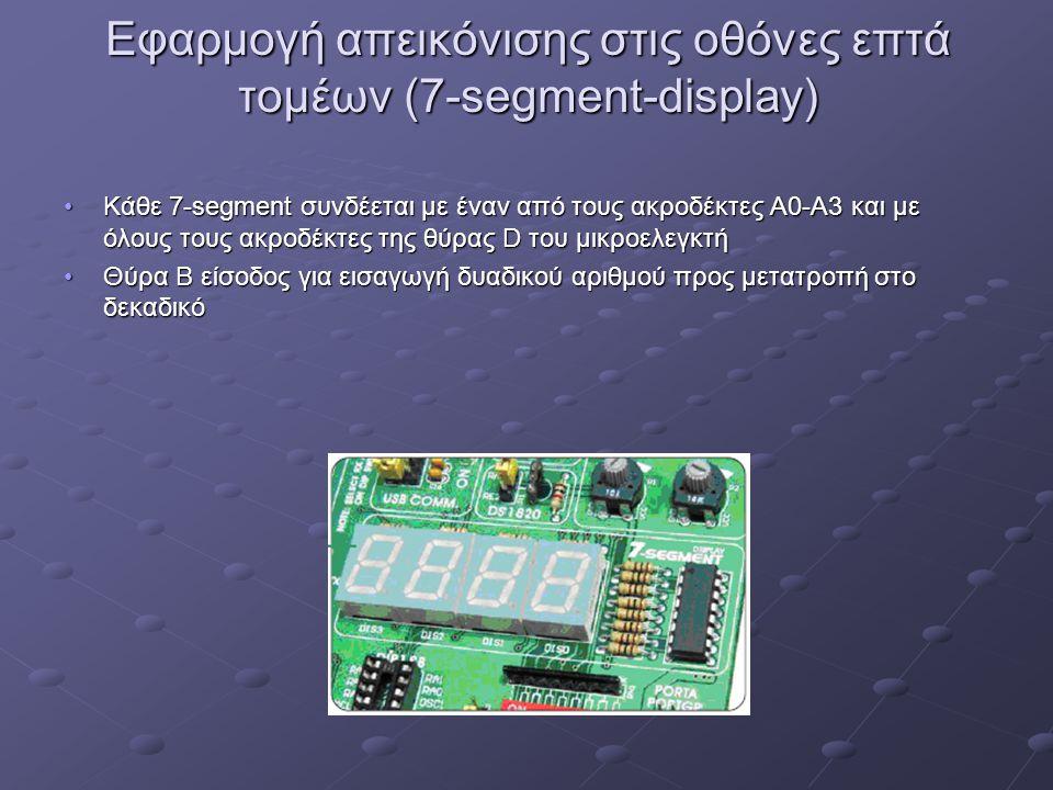 Εφαρμογή απεικόνισης στις οθόνες επτά τομέων (7-segment-display)