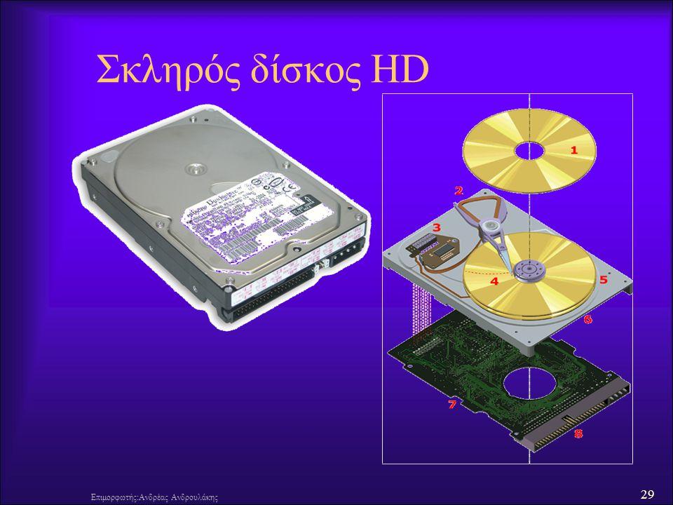 Σκληρός δίσκος HD Επιμορφωτής:Ανδρέας Ανδρουλάκης