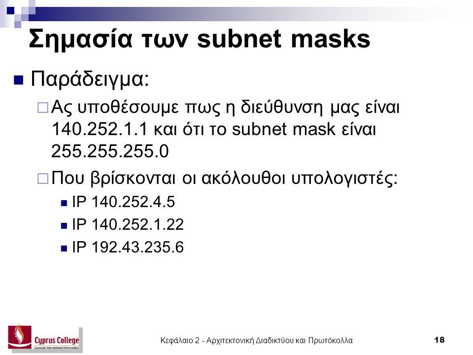 Σημασία των subnet masks