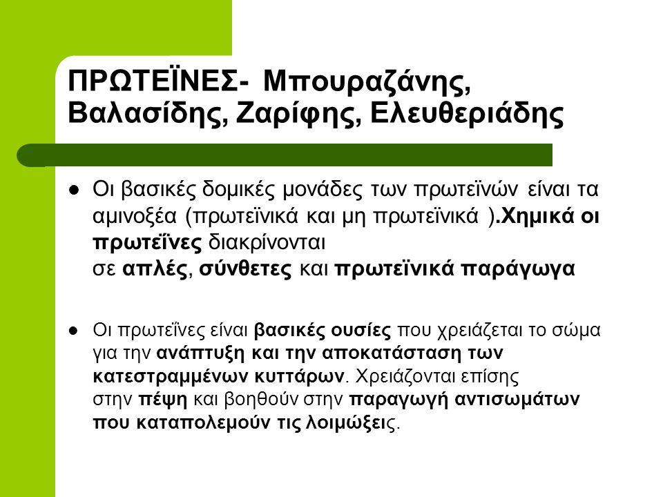 ΠΡΩΤΕΪΝΕΣ- Μπουραζάνης, Βαλασίδης, Ζαρίφης, Ελευθεριάδης