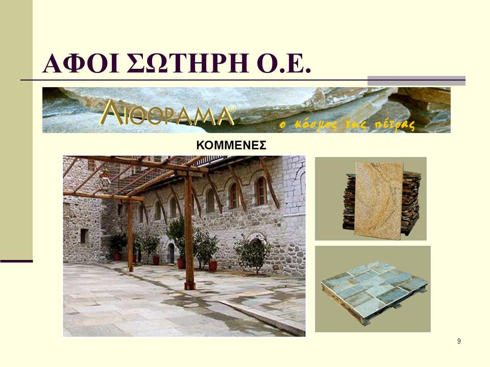 ΑΦΟΙ ΣΩΤΗΡΗ Ο.Ε. ΚΟΜΜΕΝΕΣ