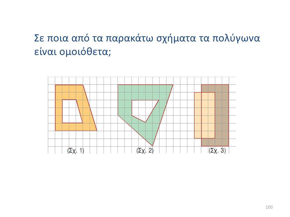 Σε ποια από τα παρακάτω σχήματα τα πολύγωνα είναι ομοιόθετα;