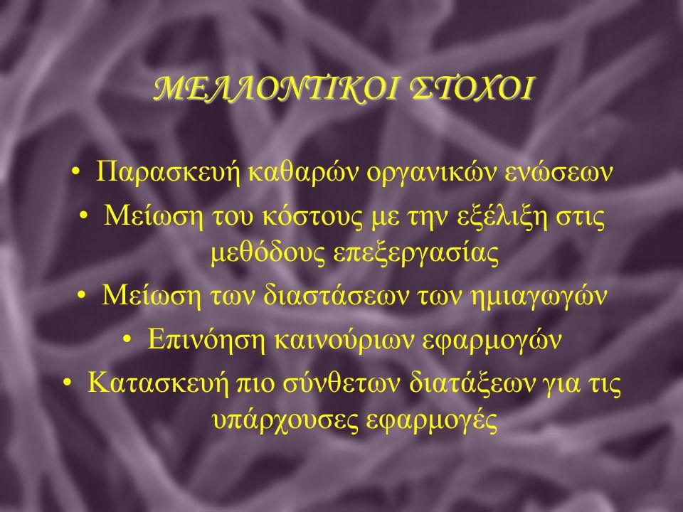 ΜΕΛΛΟΝΤΙΚΟΙ ΣΤΟΧΟΙ Παρασκευή καθαρών οργανικών ενώσεων