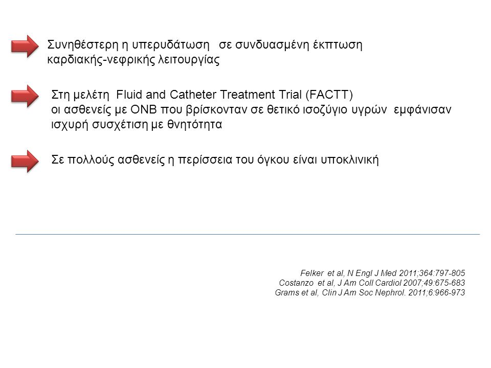 Στη μελέτη Fluid and Catheter Treatment Trial (FACTT)