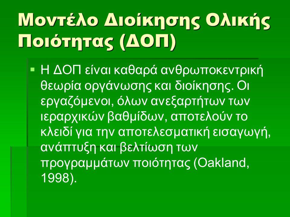 Μοντέλο Διοίκησης Ολικής Ποιότητας (ΔΟΠ)