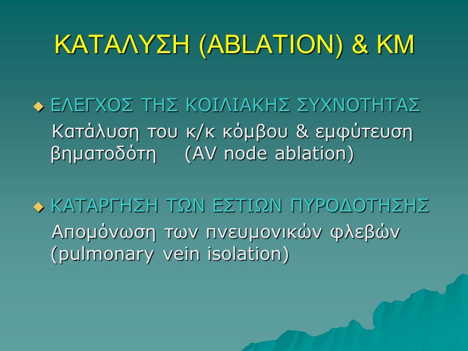 ΚΑΤΑΛΥΣΗ (ABLATION) & ΚΜ