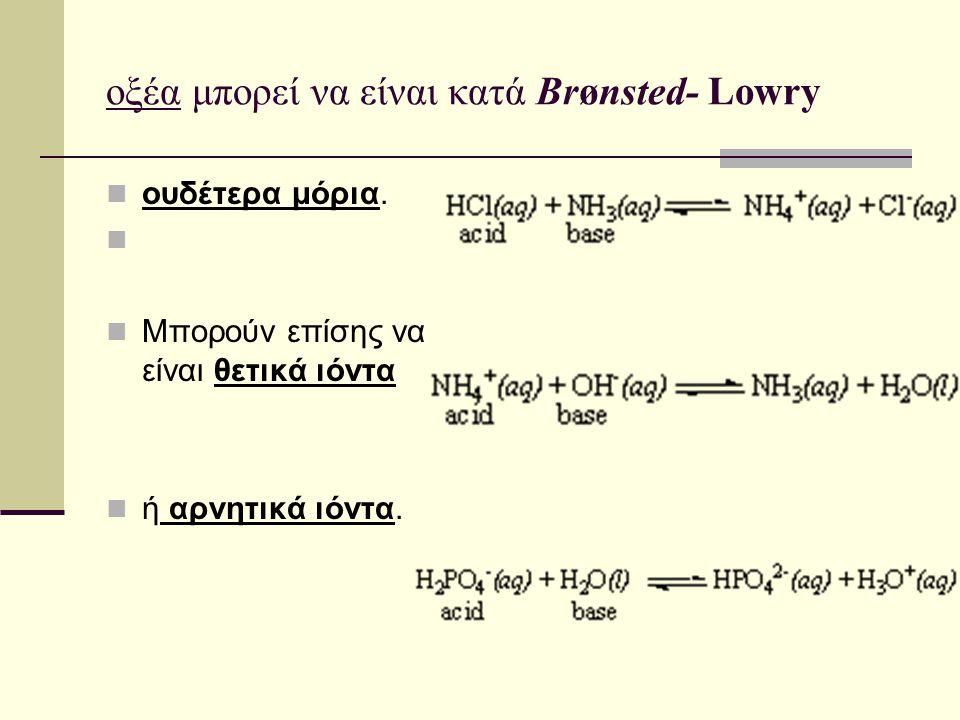 οξέα μπορεί να είναι κατά Brønsted- Lowry