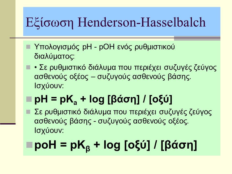 Εξίσωση Henderson-Hasselbalch