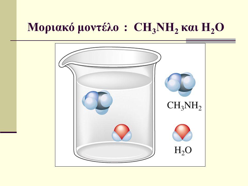 Μοριακό μοντέλο : CH3NH2 και H2O