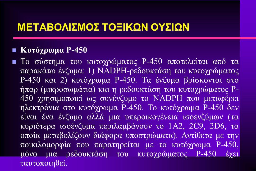 ΜΕΤΑΒΟΛΙΣΜΟΣ ΤΟΞΙΚΩΝ ΟΥΣΙΩΝ