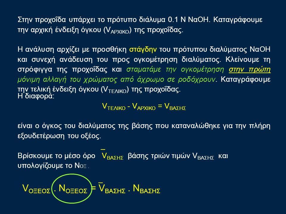 VΤΕΛΙΚΟ - VΑΡΧΙΚΟ = VΒΑΣΗΣ