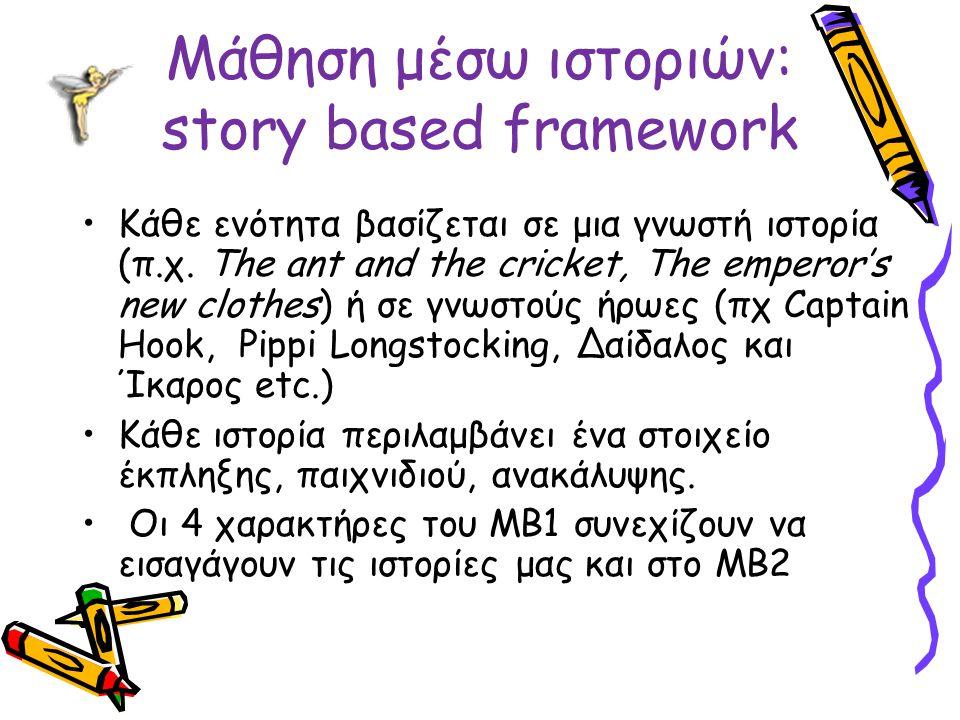 Μάθηση μέσω ιστοριών: story based framework