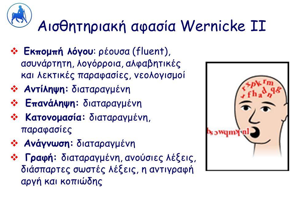 Αισθητηριακή αφασία Wernicke ΙΙ