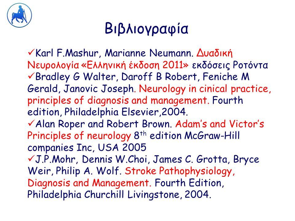 Βιβλιογραφία Karl F.Mashur, Marianne Neumann. Δυαδική Νευρολογία «Ελληνική έκδοση 2011» εκδόσεις Ροτόντα.