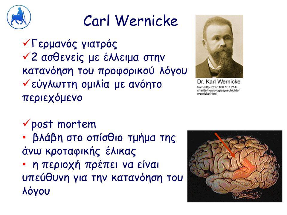 Carl Wernicke Γερμανός γιατρός