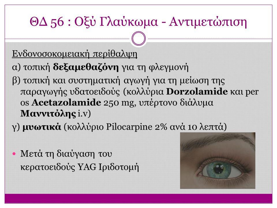 ΘΔ 56 : Οξύ Γλαύκωμα - Αντιμετώπιση