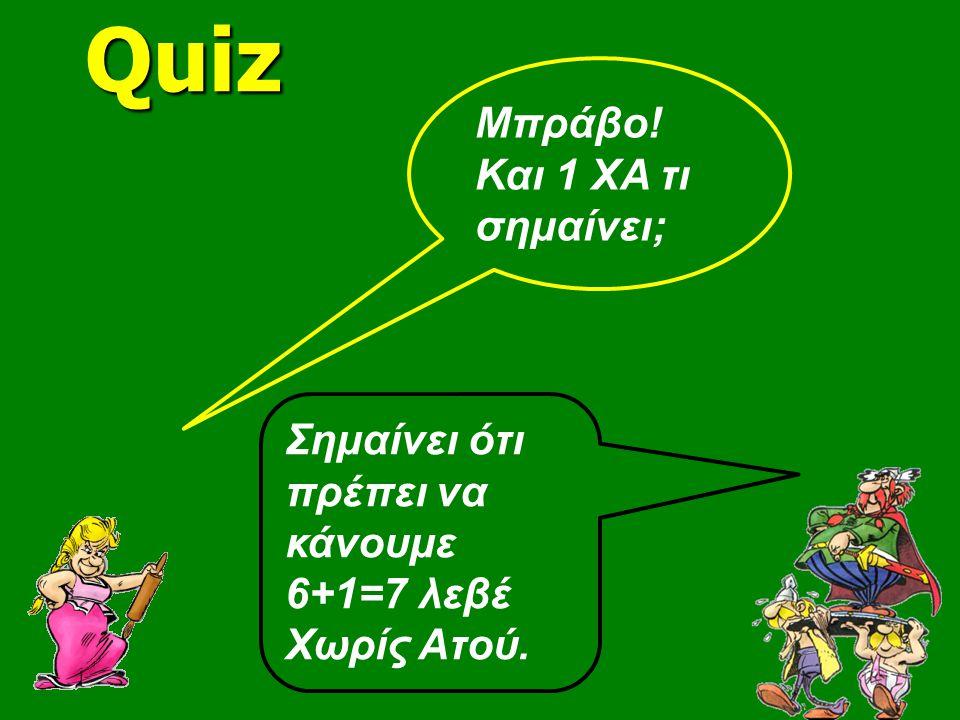 Quiz Μπράβο! Και 1 ΧΑ τι σημαίνει;
