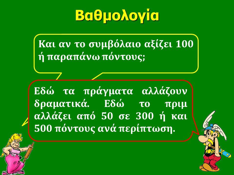 Βαθμολογία Kαι αν το συμβόλαιο αξίζει 100 ή παραπάνω πόντους;