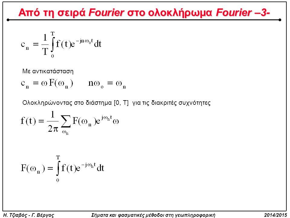Από τη σειρά Fourier στο ολοκλήρωμα Fourier –3-