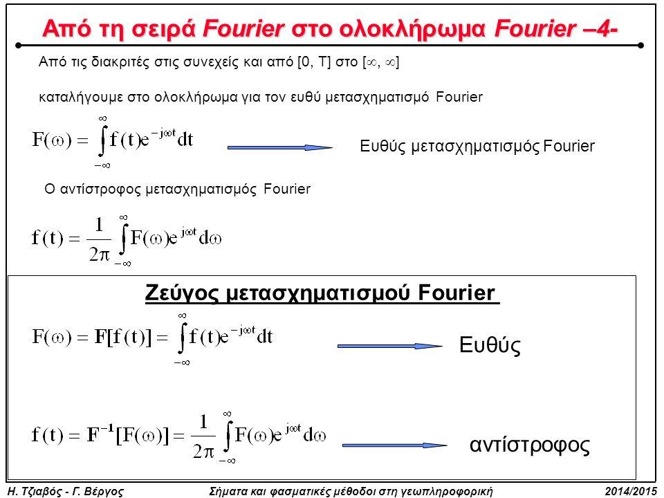 Από τη σειρά Fourier στο ολοκλήρωμα Fourier –4-