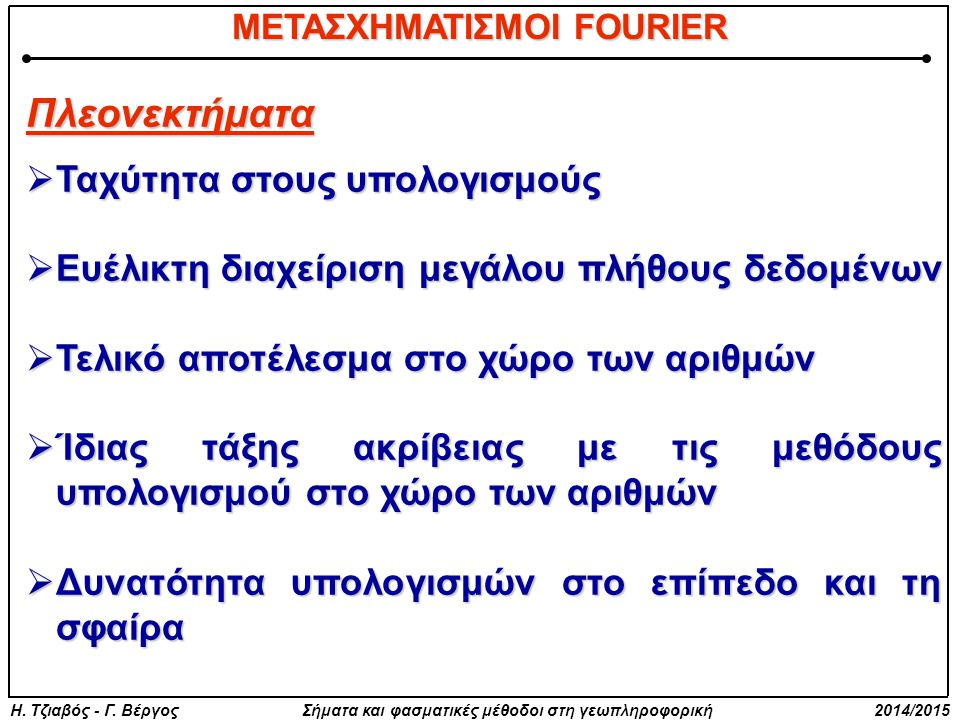 ΜΕΤΑΣΧΗΜΑΤΙΣΜΟΙ FOURIER