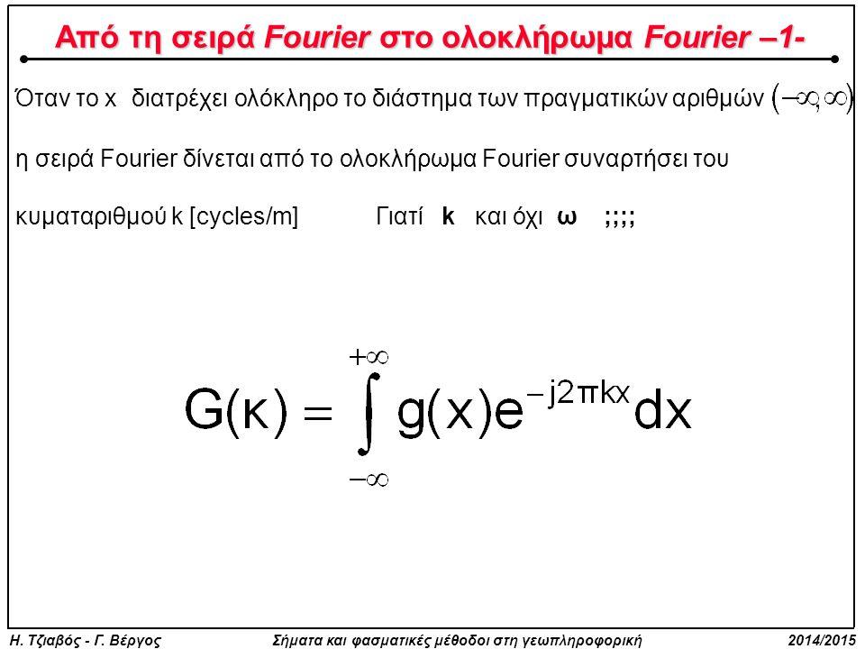Από τη σειρά Fourier στο ολοκλήρωμα Fourier –1-
